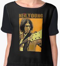 Neil young design Chiffon Top