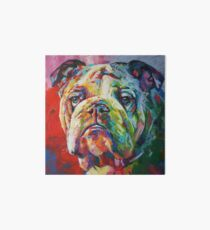 English Bulldog Art Board
