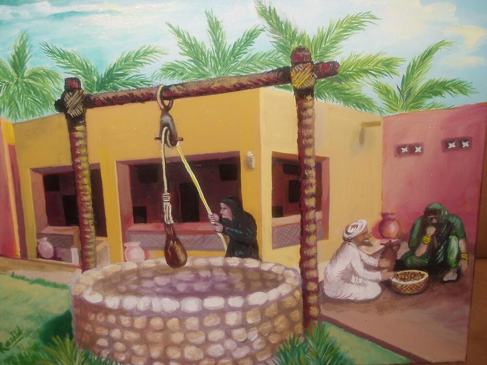 Arabic Courtyard by Suhel Rashid Shaikh