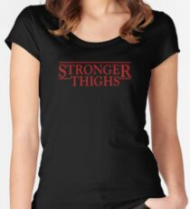 Stronger Thighs Women's Fitted Scoop T-Shirt