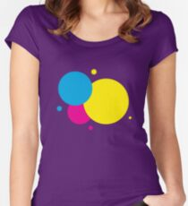 CMYK Circles Women's Fitted Scoop T-Shirt