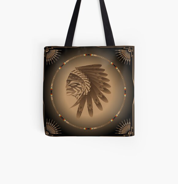 Honor and Strength All Over Print Tote Bag