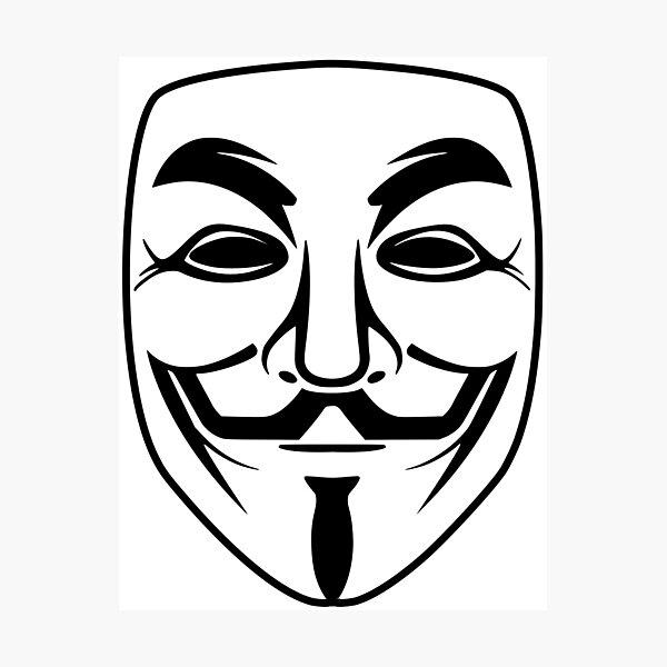 Photo Poster art légion Encadrée Imprimer-anonyme Vendetta Hacker Internet