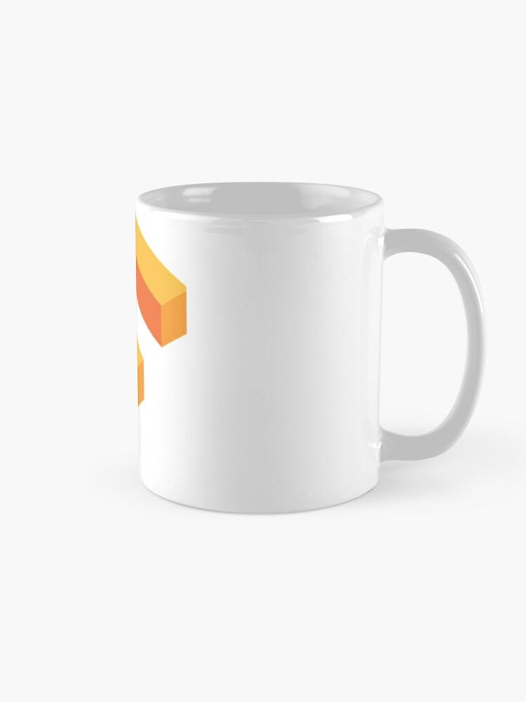 Alternate view of Tensorflow -- software library Mug