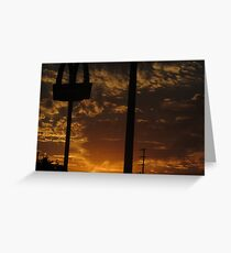 Sunset by McDonald's Greeting Card