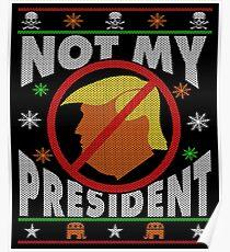 Trump Ugly Christmas Tee Poster