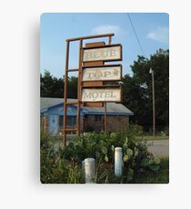 The Blue Top Motel  Canvas Print