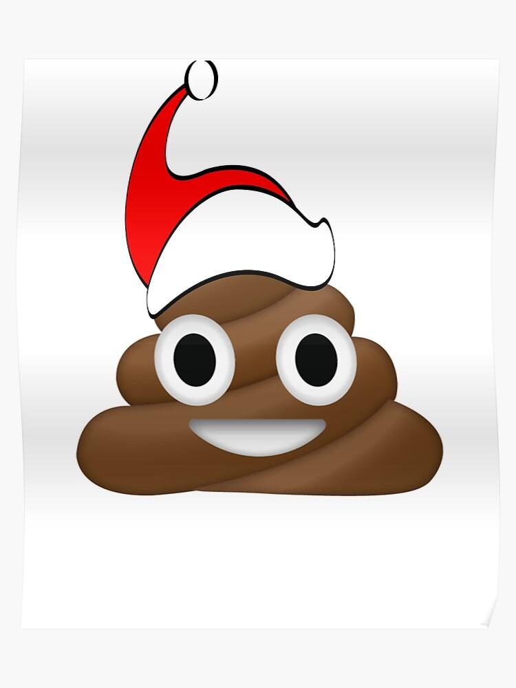 Funny Christmas Pics.Funny Christmas Santa Poop Emoji Xmas Poster