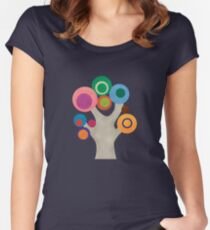 Abstract Tree Women's Fitted Scoop T-Shirt
