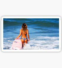 Hot Bikini Surfer Babe Sticker