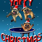 yappy christmas from the pugs by gruntpig