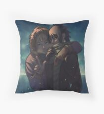 Evening of the first snow. Throw Pillow