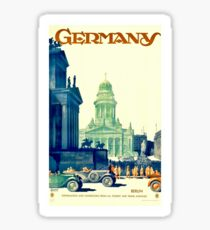 Vintage Germany Travel Poster Sticker