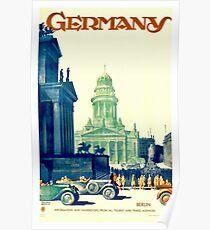 Vintage Deutschland Reise Poster Poster