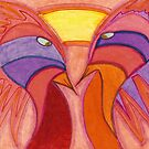 Pink Birds in Love by Susan  Detroy
