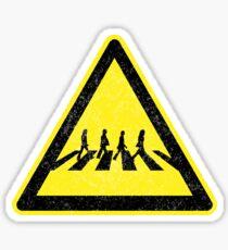 Beatles Xing Sign Sticker