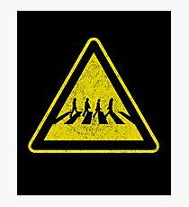 Beatles Xing Sign Photographic Print