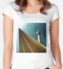 Berlin TV tower Women's Fitted Scoop T-Shirt