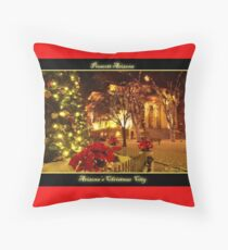 Arizona's Christmas City Prescott Arizona Throw Pillow