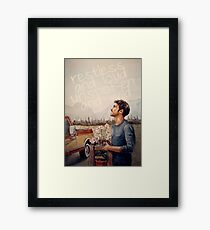Restless and Loud Framed Print