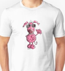 Funky Pink Dog With Sunglasses - Cartoon T-Shirt