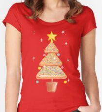 Fairy Christmas - Fairy Bread - Pink Women's Fitted Scoop T-Shirt