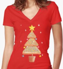 Fairy Christmas - Fairy Bread - Pink Women's Fitted V-Neck T-Shirt