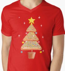 Fairy Christmas - Fairy Bread - Pink Men's V-Neck T-Shirt