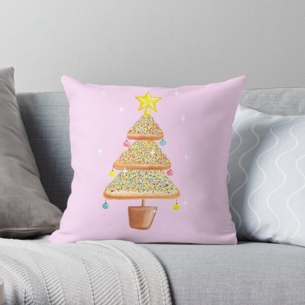 Fairy Christmas - Fairy Bread - Pink Throw Pillow