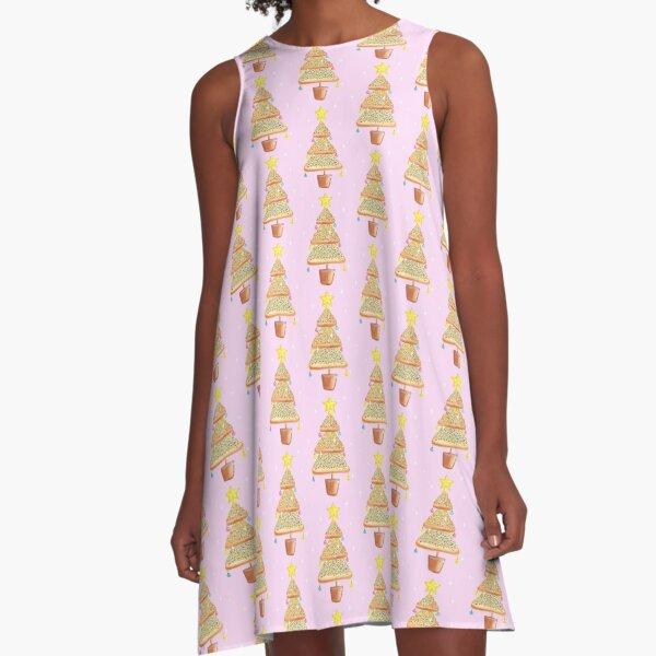 Fairy Christmas - Fairy Bread - Pink A-Line Dress