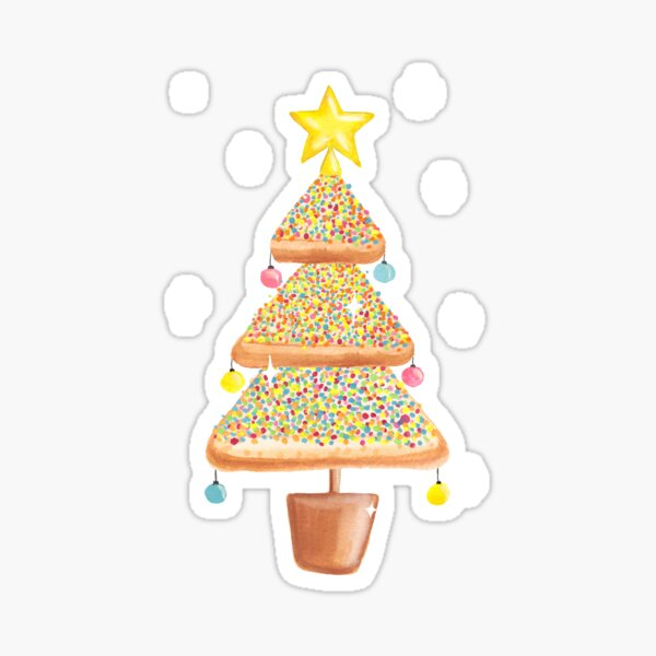 Fairy Christmas - Fairy Bread - Pink Sticker