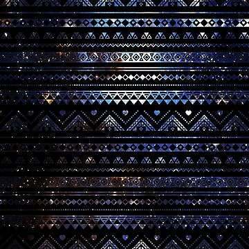 Aztec Black Galaxy Blue by rapplatt