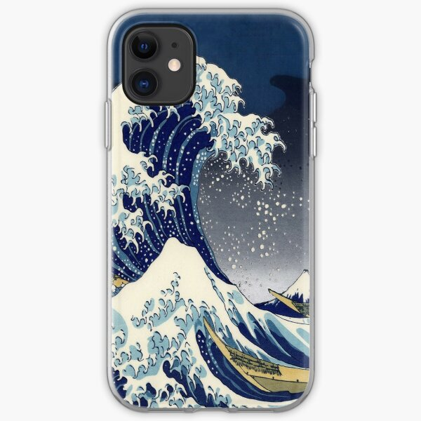 Gran ola: noche de Kanagawa Funda blanda para iPhone