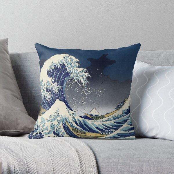 Gran ola: noche de Kanagawa Cojín