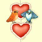Love Birds with Hearts by Cherie Roe Dirksen