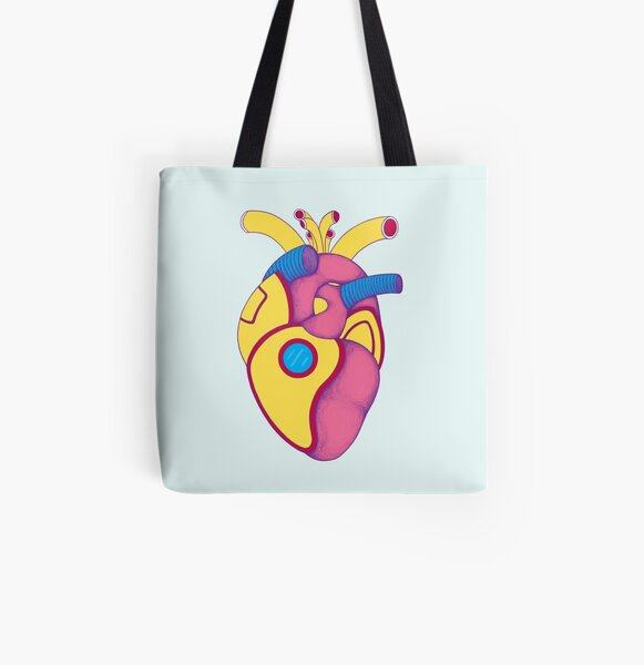 Lemon U-boat Heart All Over Print Tote Bag