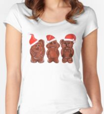 Three Chocolatiers - Freddo, Caramello & Yowie - Christmas Women's Fitted Scoop T-Shirt
