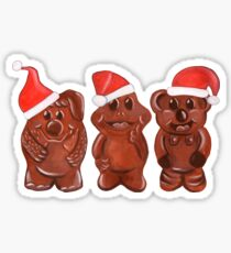 Three Chocolatiers - Freddo, Caramello & Yowie - Christmas Sticker