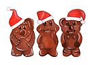 Three Chocolatiers - Freddo, Caramello & Yowie - Christmas by makemerriness