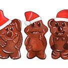 Three Chocolatiers - Freddo, Caramello & Yowie - Christmas by makemerriness