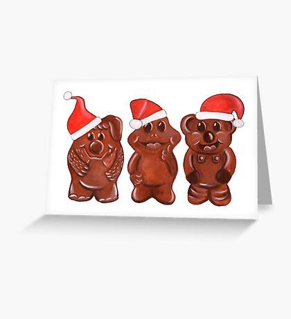 Three Chocolatiers - Freddo, Caramello & Yowie - Christmas Greeting Card