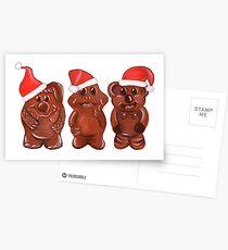 Three Chocolatiers - Freddo, Caramello & Yowie - Christmas Postcards