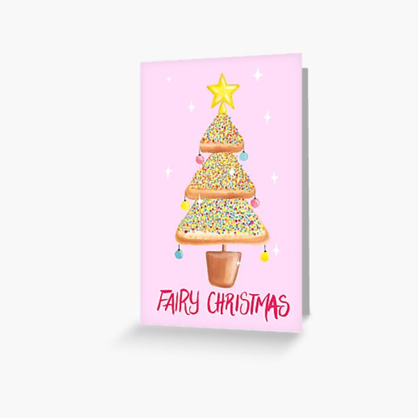 Fairy Christmas - Fairy Bread - Pink Greeting Card