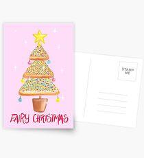 Fairy Christmas - Fairy Bread - Pink Postcards