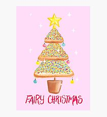 Fairy Christmas - Fairy Bread - Pink Photographic Print