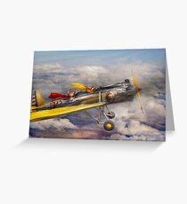 Flying Pig - Plane -The joy ride Greeting Card