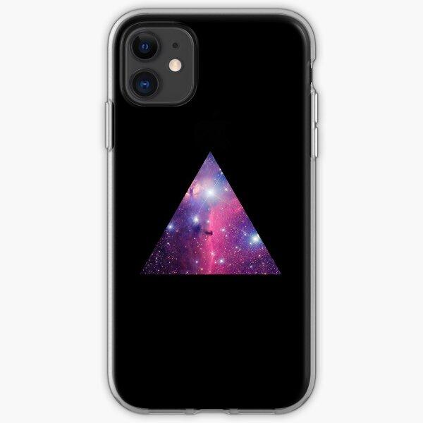 Purple Galaxy Triangle iPhone Soft Case