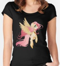 My Little Pony: Fluttershy Women's Fitted Scoop T-Shirt