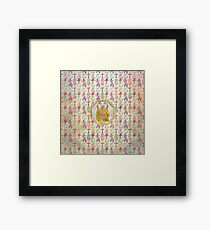 Lucky Happy Buddha  and feng shui hieroglyphs Framed Print