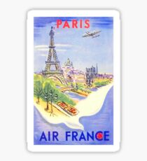 Vintage Paris Travel Poster Sticker